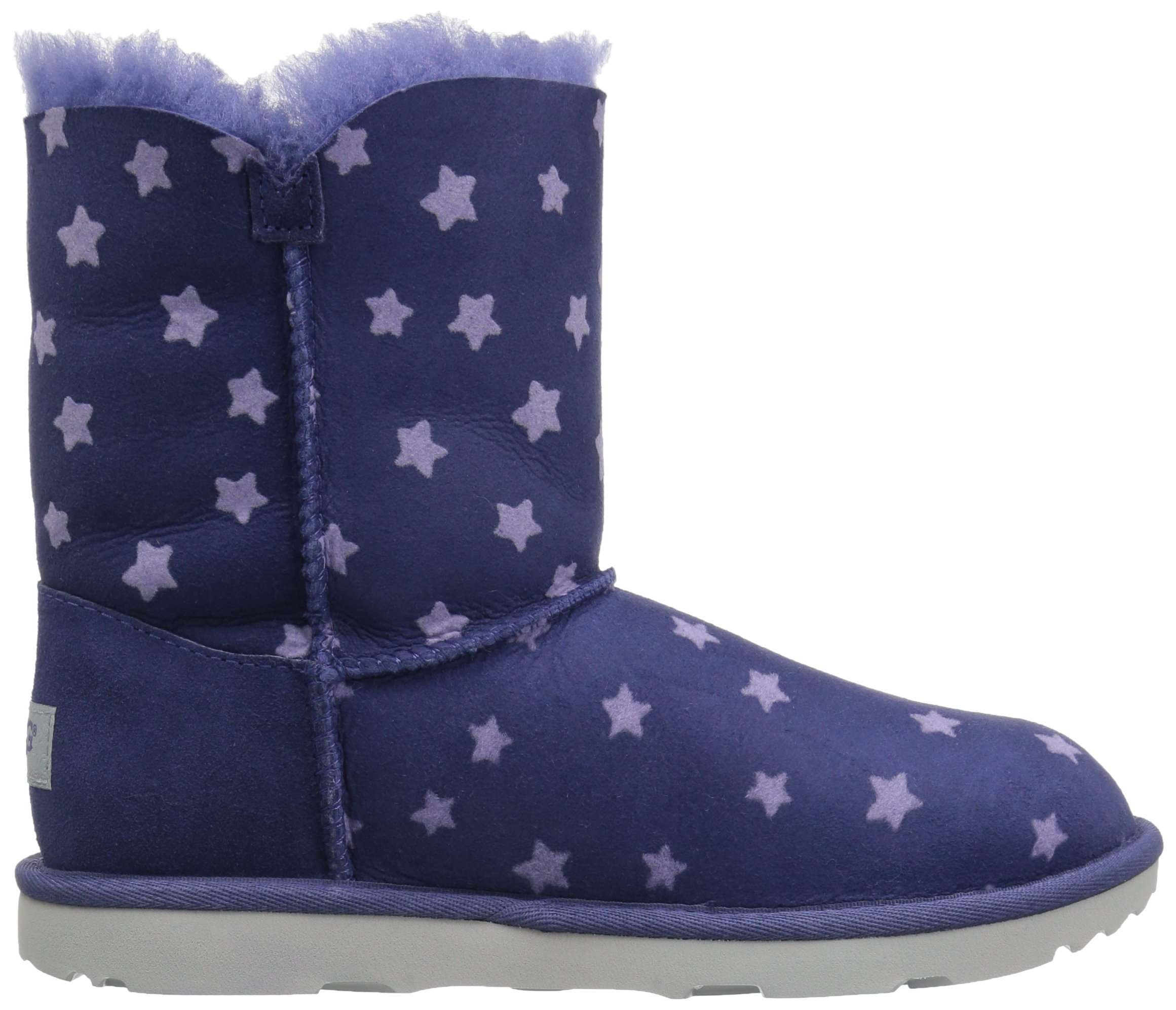 UGG Girls K Bailey Button II Stars Pull-On Boot, Nocturn, 1 M US Little Kid by UGG (Image #7)