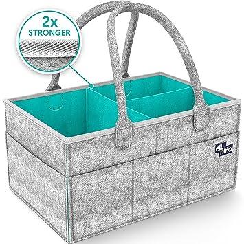 Baby Diaper Caddy Organizer - Grande A Prueba De Agua Ideal Para Cambiar Las Mesas,