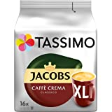 Tassimo Jacobs Caffè Crema XL, Rainforest Alliance Vérifié, Lot de 5, 5 x 16 T-Discs