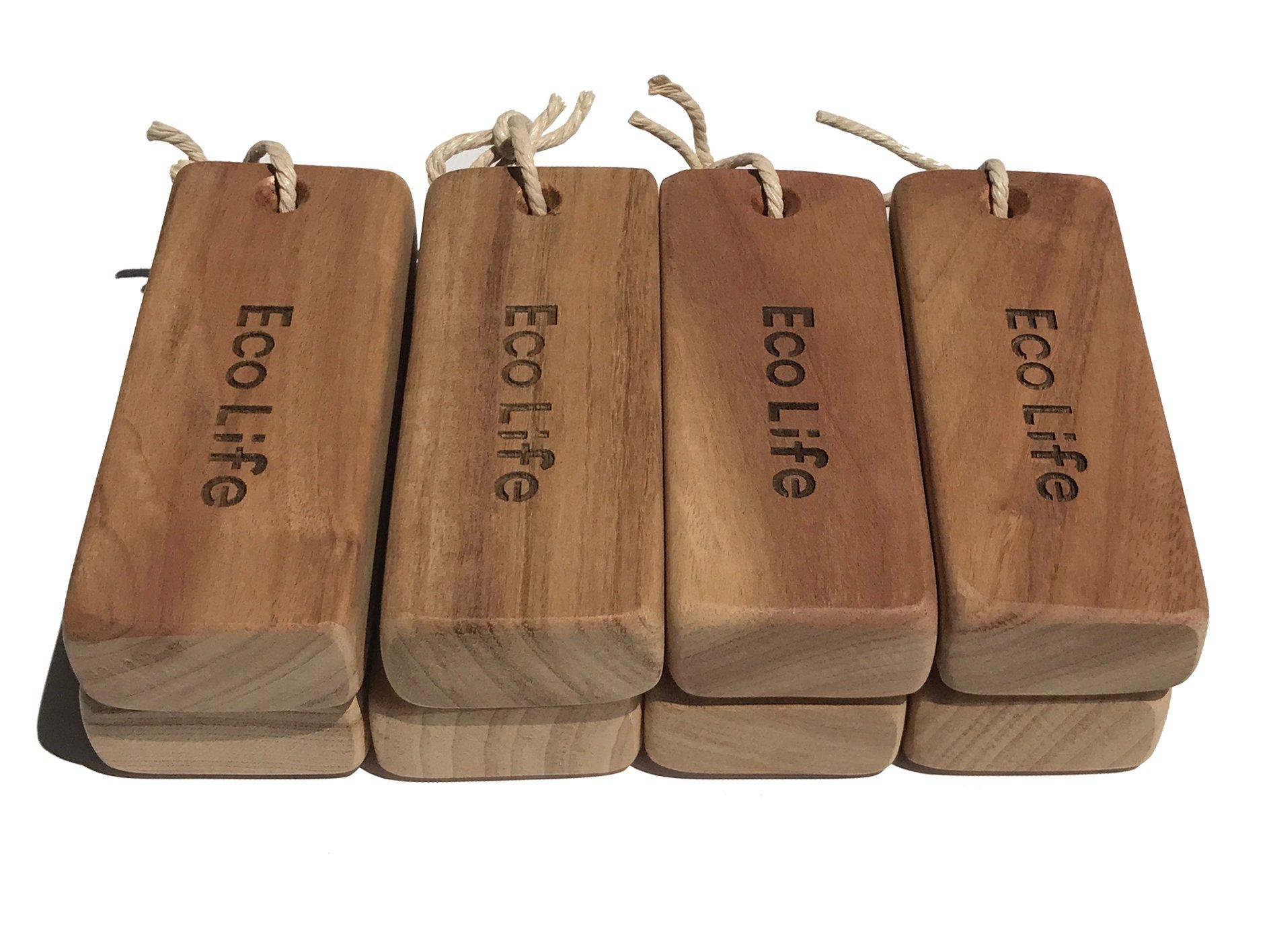 Edland Natural Moth Repellent - Old Cinnamomun Camphora Wood Root Blocks Aromatic Non-Toxic Moth Protection Repel Pests for Closet & Wardrobes - 8 Pcs Big 3.9 x 1.6 x 0.8 in