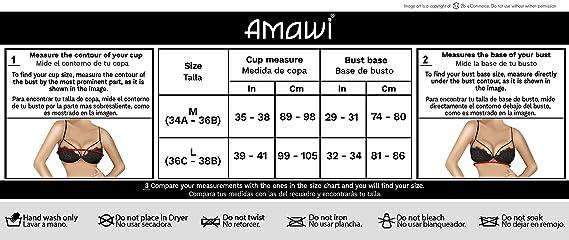 Amawi LIS Women Sexy Babydoll Lace Bra Panty Set  ca52fce99