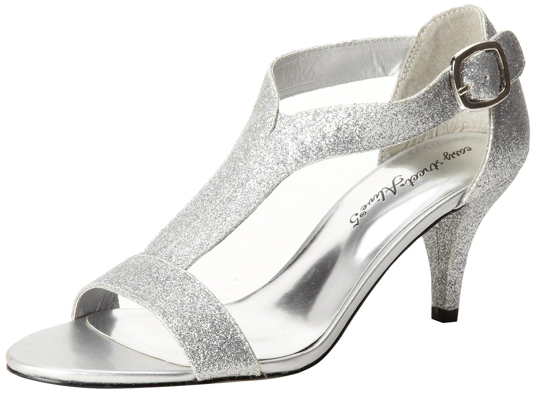Easy Street Women's Glitz Sandal B00CD9GO88 7.5 W US|Silver Glitter