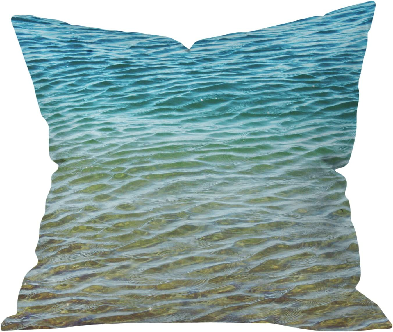 Deny Designs Shannon Clark Ombre Sea Throw Pillow, 26 x 26