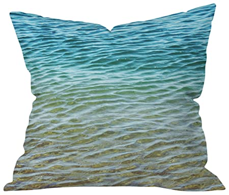 Deny Designs Shannon Clark Ombre Sea Throw Pillow, 20 x 20