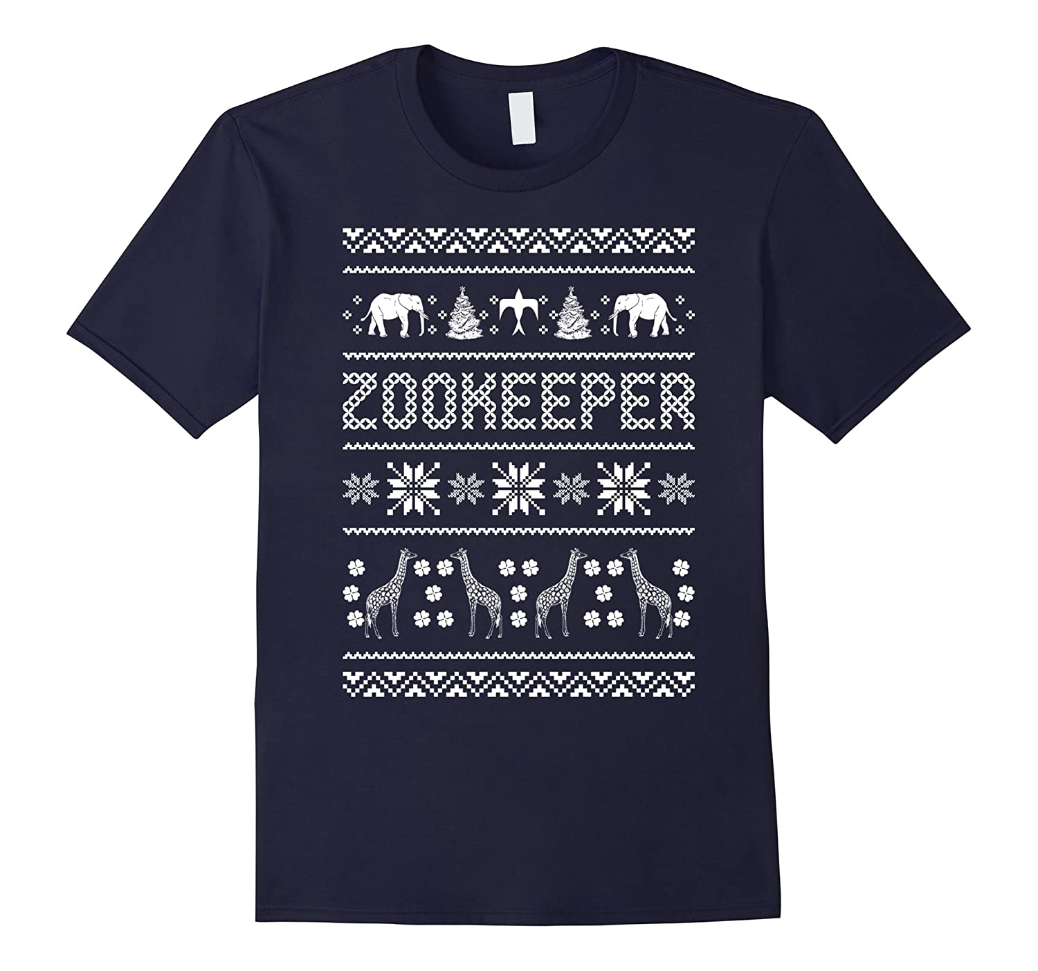 Zookeeper Ugly Christmas Sweater Xmas Animals T-shirt-ANZ