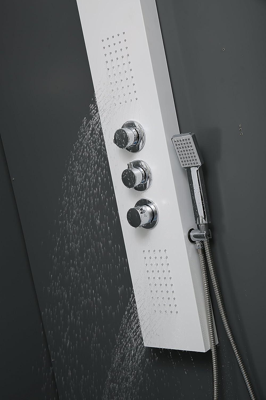 DP Grifería Provenza - Columna de Hidromasaje Termostática en Aluminio Blanco: Amazon.es: Bricolaje y herramientas