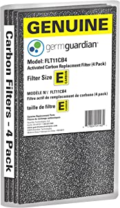Guardian Technologies GermGuardian Air Purifier Genuine Carbon Filter 4-Pack for use with FLT4100 HEPA Filter E for AC4100 Series Germ Guardian Air Purifiers, FLT11CB4
