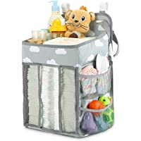 Hanging Diaper Caddy Organizer - Diaper Stacker for Changing Table, Crib, Playard or Wall