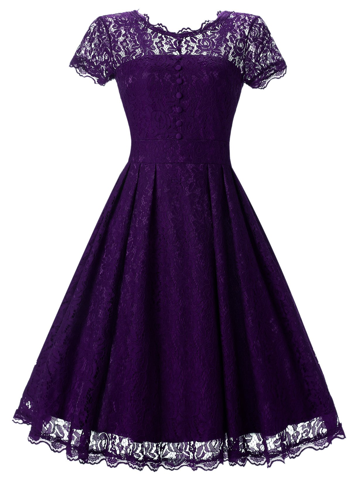 Angerella Homecoming Dresses Womens Party Wedding Summer Prom Bridesmaid Dress, Purple, X-Large