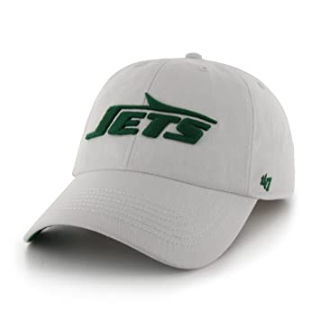 new styles eacdb 0d059  47 Brand NFL New York Jets Franchise Fitted Hat, Small, White   Amazon.co.uk  Sports   Outdoors