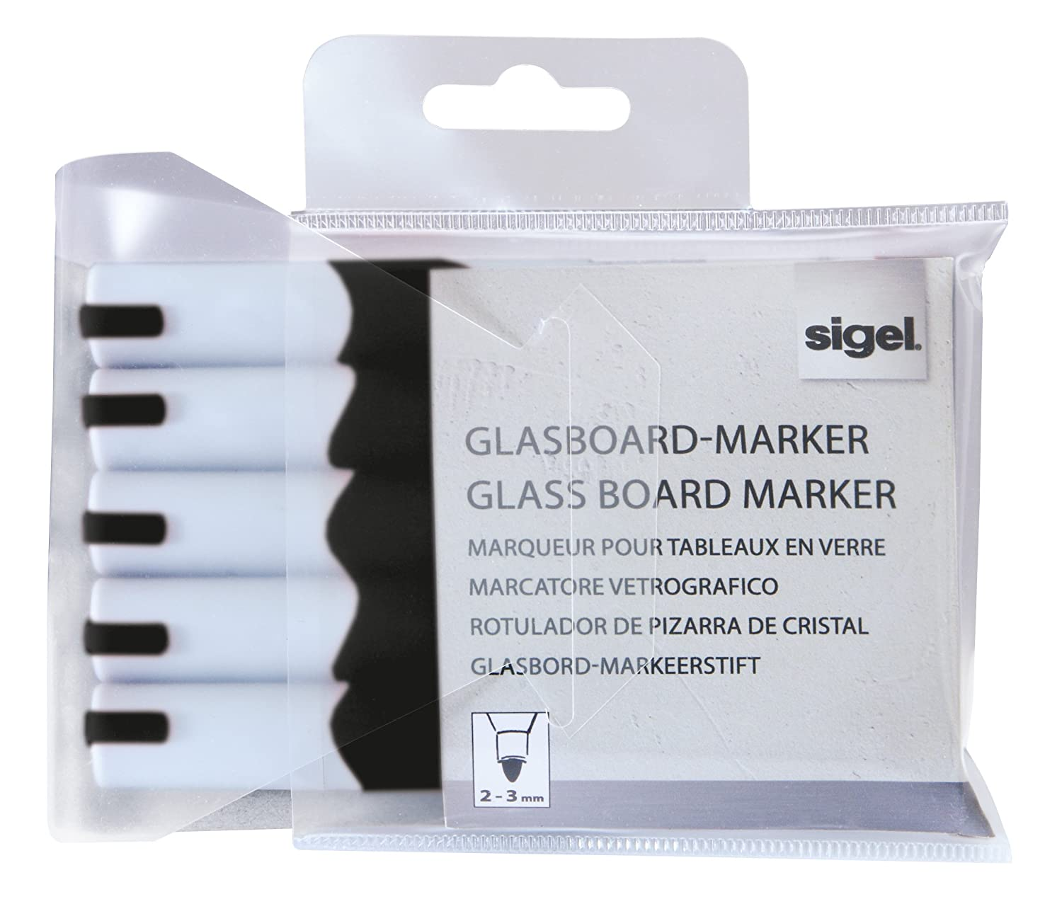 Amazon.com : Sigel GL710 2-3 mm Round Nib Non-Permanent Ink ...