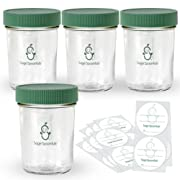 Sage Spoonfuls Glass Snack Jar 4pk, Clear
