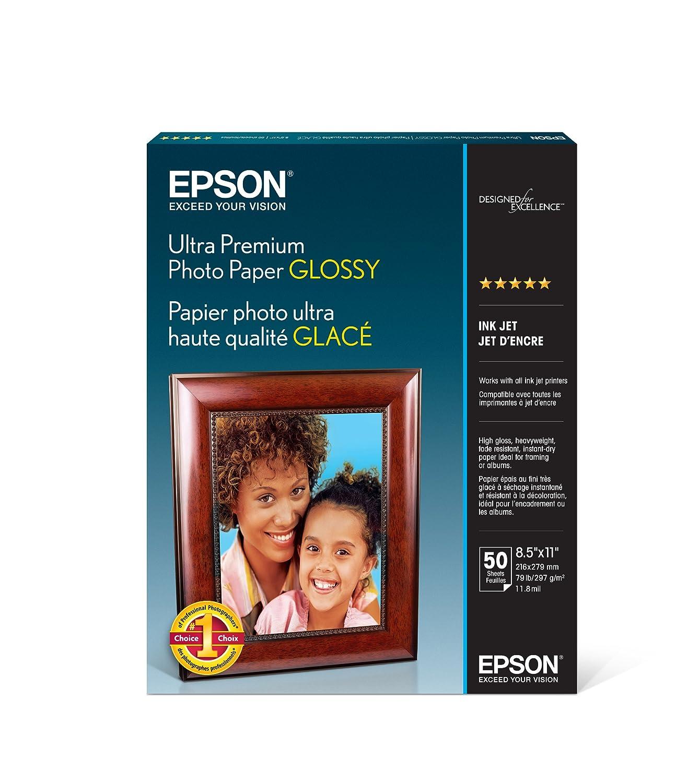 50 Hojas Papel Epson Fotográfico 8.5 x 11