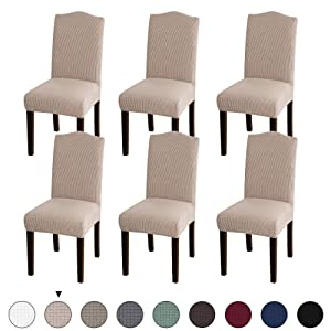 Turquoize Stretch Dining Chair Velvet Fabric Slipcovers Washable Removable Chair Slipcover Dining Chair Protector Cover for Dining Room Set of 6, Khika