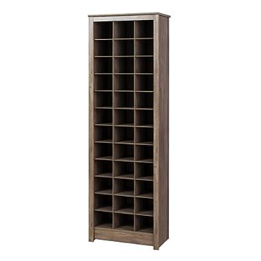 Prepac DUSR-0009-1 Shoe Storage Cabinet, 36 Pair Rack, Drifted Gray