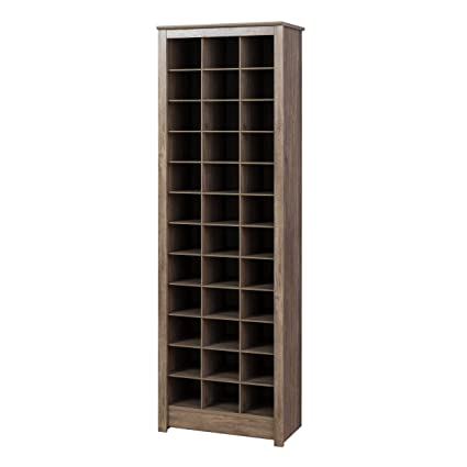 Ordinaire Prepac DUSR 0009 1 Cabinet, 36 Pair Shoe Storage Rack, Drifted Gray