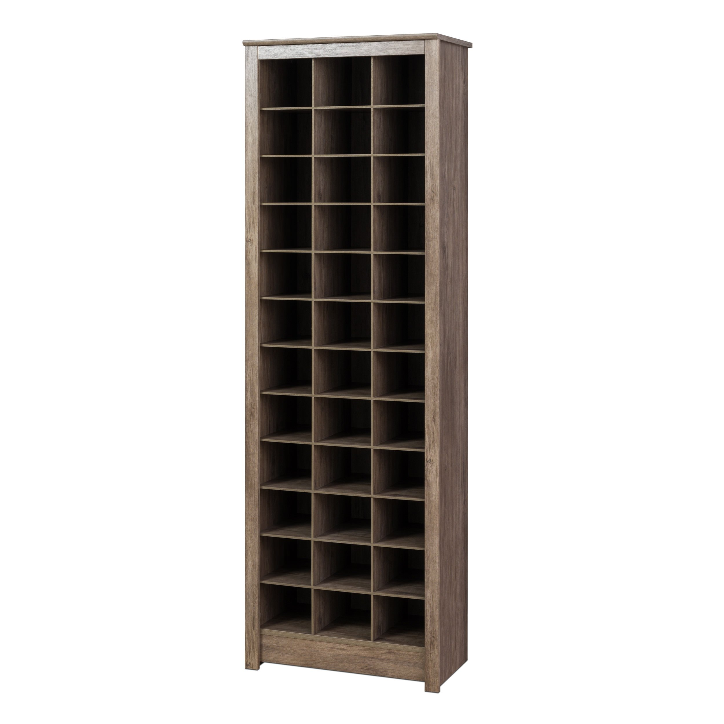 Prepac DUSR-0009-1 Shoe Storage Cabinet, Drifted Gray