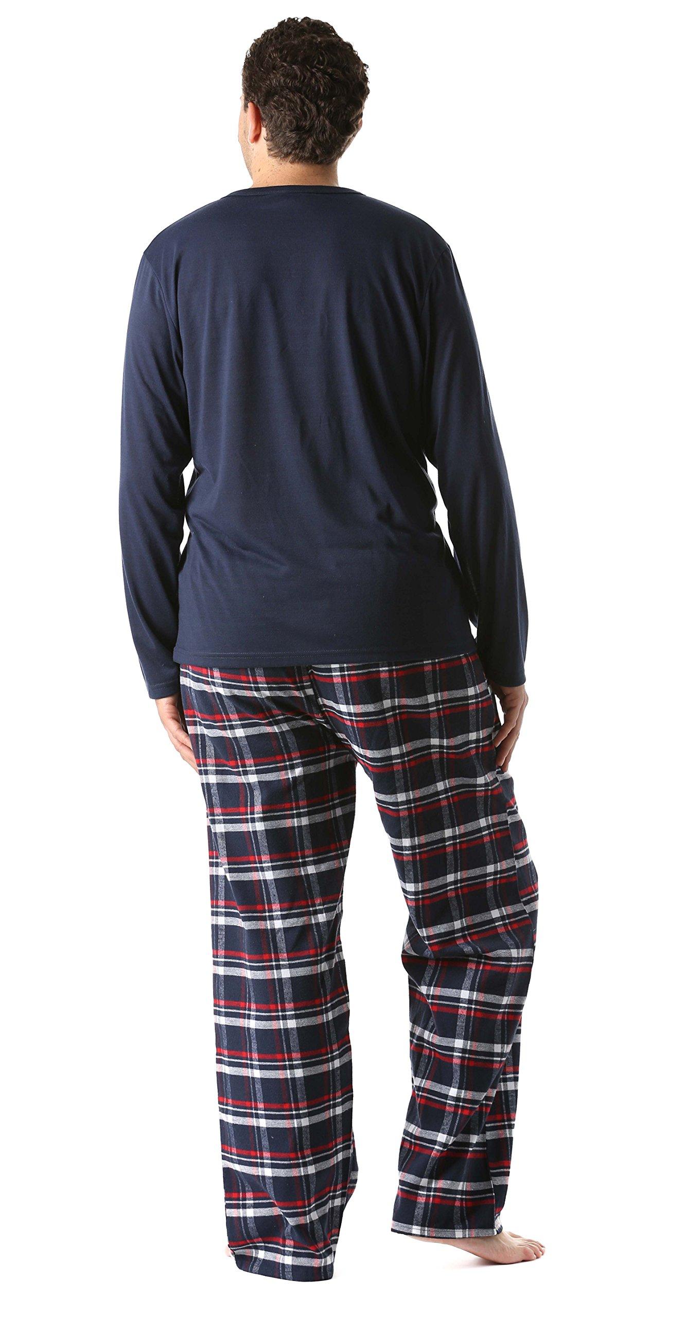 Men S 2 Piece Cotton Blend Flannel Pajama Set With 2