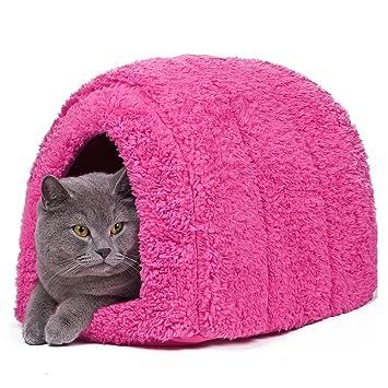 Cama con forma de cueva para mascotas, de la marca Pawz Road: Amazon.es: Productos para mascotas