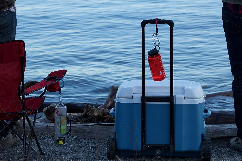 Lulabop qliplet/qlipter mosquetón Gancho con Giratorio Plegable Gancho - Fuerte Clip para Camping, Viajes; Aventura Herramienta; Deportes Accesorios; ...