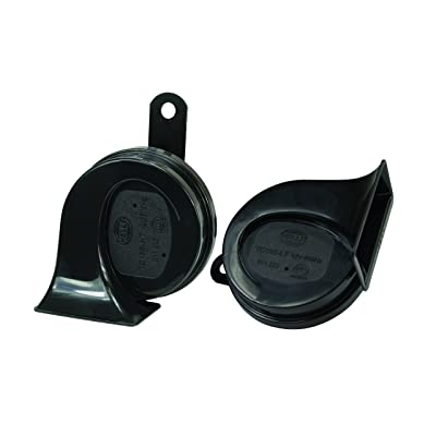 HELLA 011225831 Black 12V BX Trumpet Horn Kit(Universal Fit): Automotive