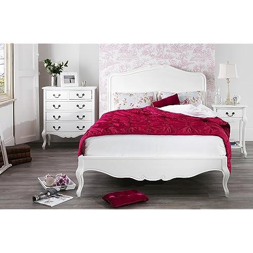 White King Size Bed Frame Amazoncouk - White-king-bed-frame
