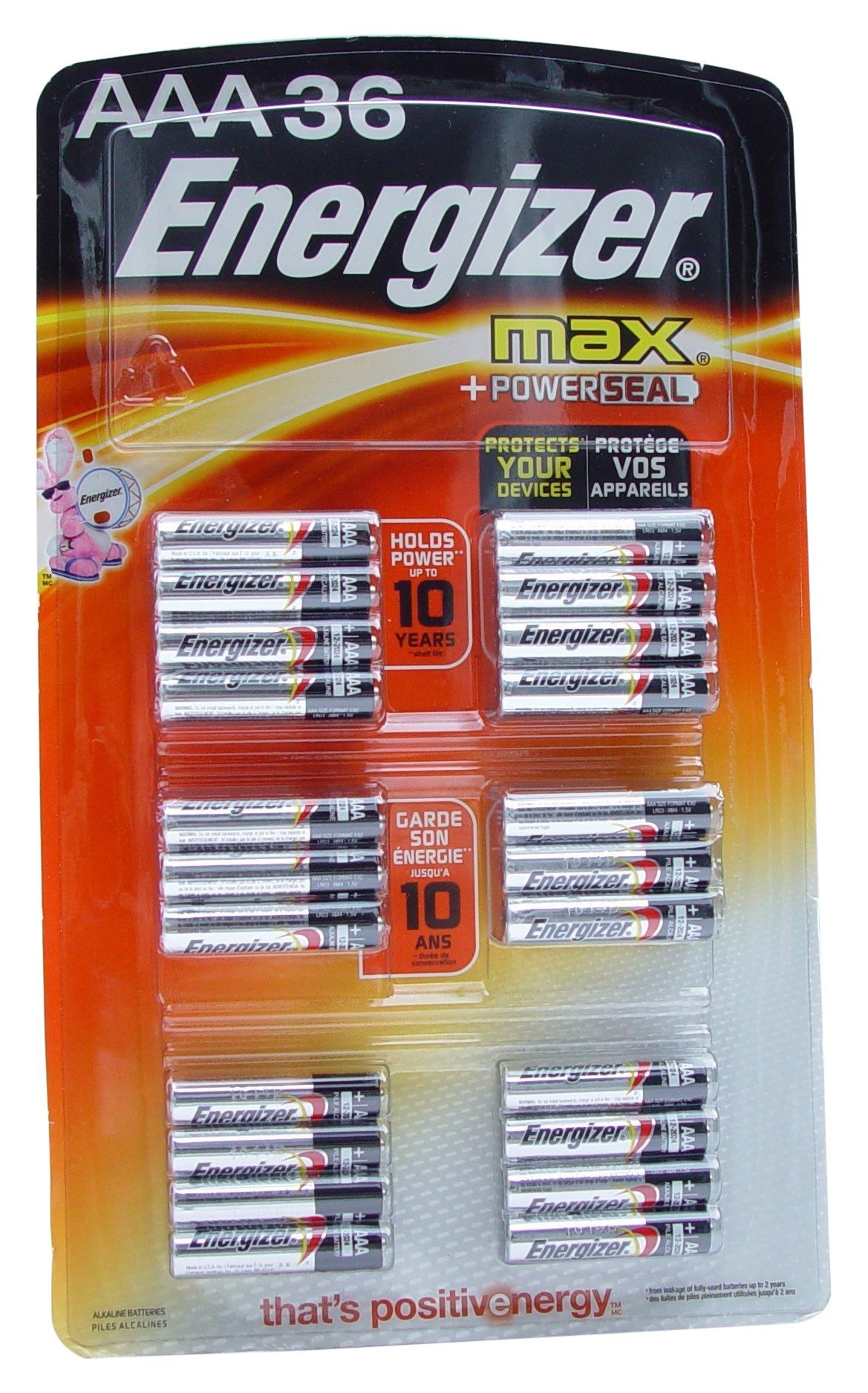 Energizer Max AAA Alkaline Batteries, 36 Count by Energizer