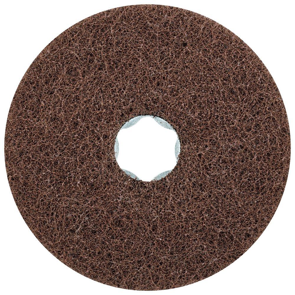 PFERD 48128 Combiclick Non-Woven Disc, Soft Type, 4'' Diameter, 12,000 RPM, Fine Grit (Pack of 10)