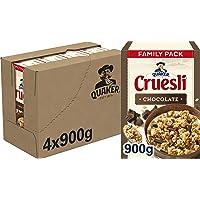 Quaker Cruesli Chocolade, Doos 4 stuks x 900 g