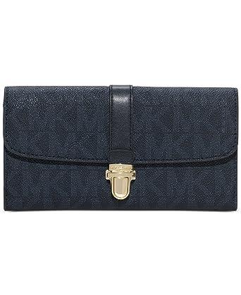 michael michael kors charlton flap wallet baltic blue at amazon rh amazon com