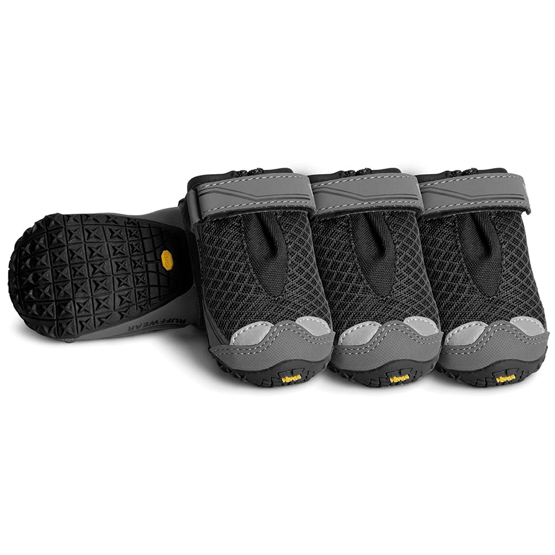 Obsidian Black 76 mm Obsidian Black 76 mm Ruffwear All-Terrain Dog Boots (Set of 4), Large Breeds, Size  76 mm 3 in, Obsidian Black, Grip Trex, 15202-001300