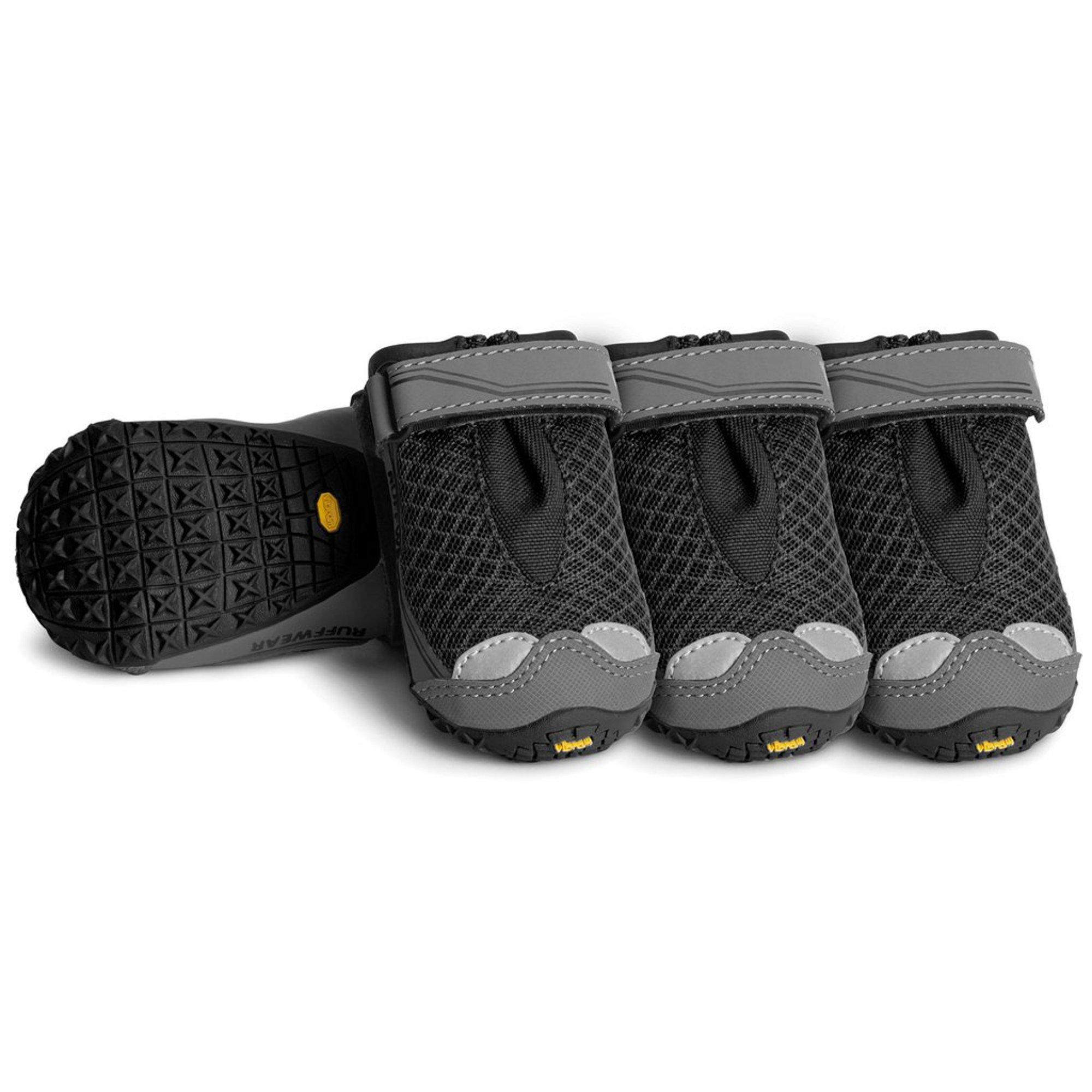 RUFFWEAR 15202-001300 - Grip Trex, All-Terrain Paw Wear for Dogs, Obsidian Black, 3.0 in (Set of 4)