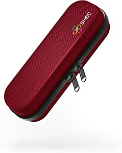 SHBC Compact Insulin Cooler Travel case for Diabetics Carrying On, Working, Office, etc. Well-Organized Small Bag for Medication Cooling Insulation Epi Pen Carrying Case with One Ice Pack Red