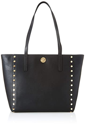 c24a72b20 Amazon.com: Michael Michael Kors Rivington Studded Leather Tote, Black:  Shoes
