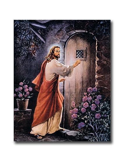 Jesus Knocking On Your Door # 2 Religious Wall Picture Art Print  sc 1 st  Amazon.com & Amazon.com: Jesus Knocking On Your Door # 2 Religious Wall Picture ...