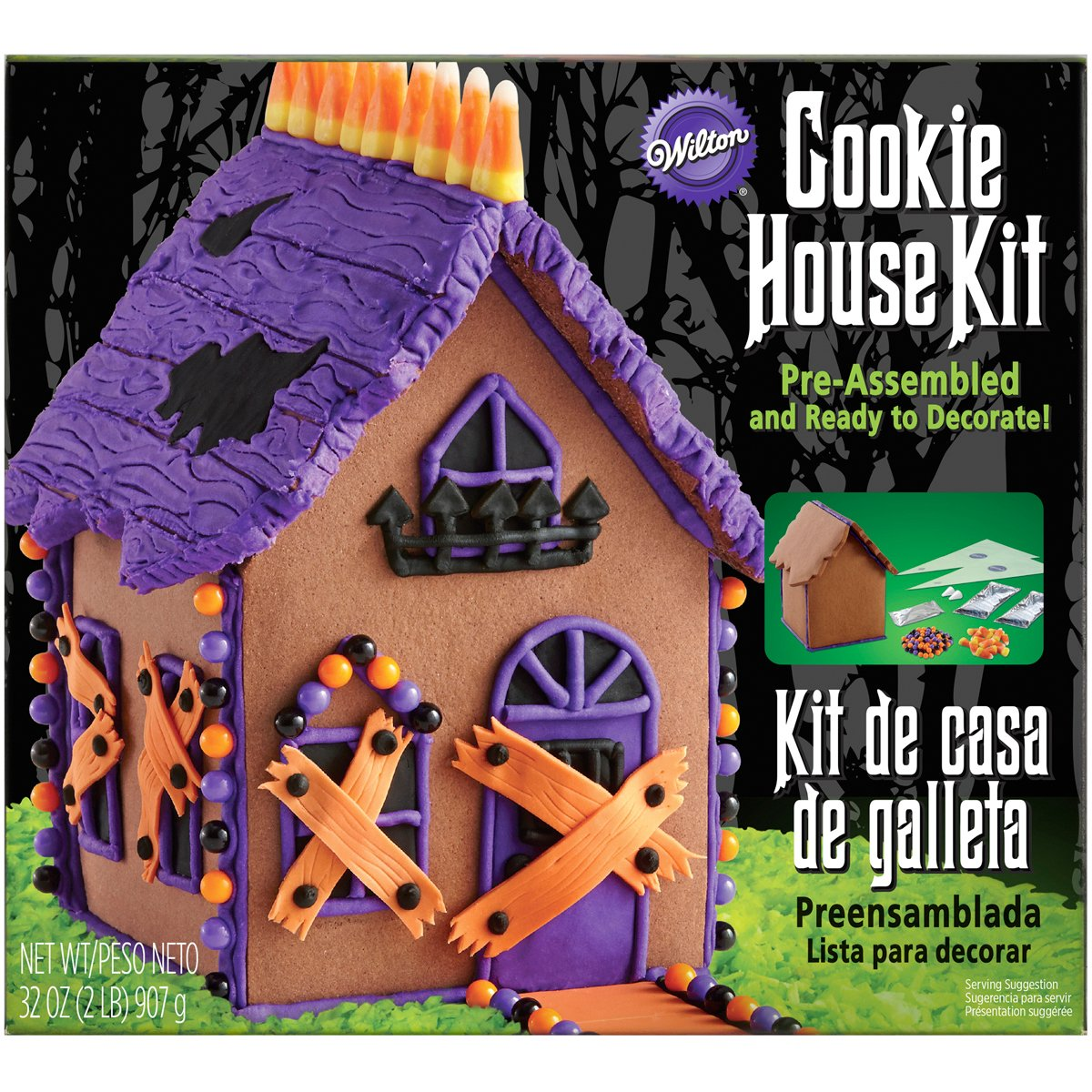 Wilton W1044327 Halloween Haunted Gingerbread House Kit-