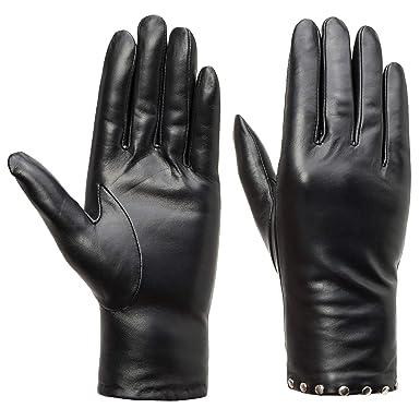 7da825eb59337b Acdyion Damen Winter Touchscreen Handschuhe Eleganz Echtleder Warm  Kaschmirfutter Lederhandschuhe Tägliche Freizeit Outdoor  Amazon.de   Bekleidung