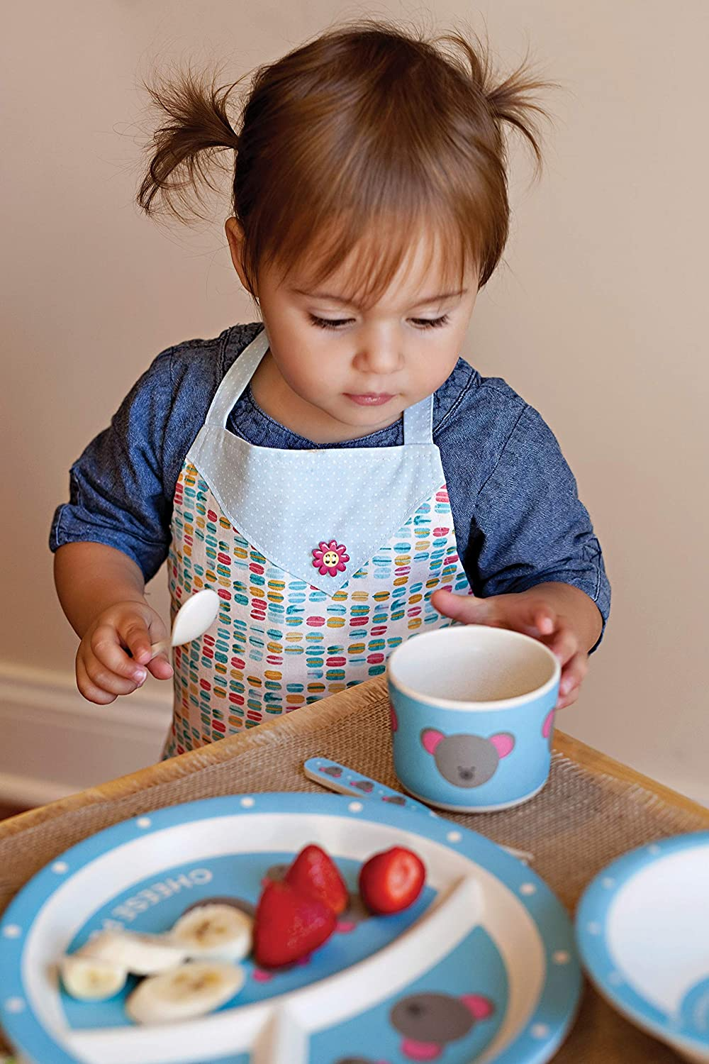 Red Rover 20021 Hippo Childrens Dinner Set 5-Piece Multicolor