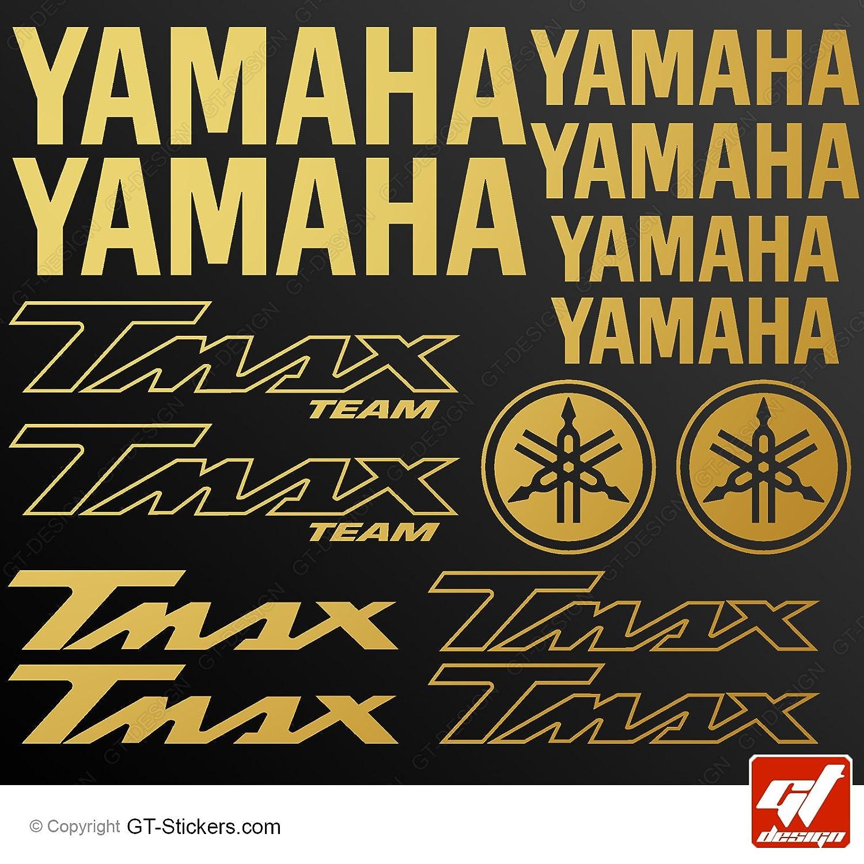Amazon fr stickers yamaha tmax or planche de 14 stickers adhésifs autocollants gt design t max t max