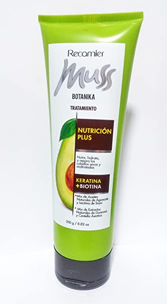 Amazon.com : Recamier Muss Botanica Nutricion Plus Tratamiento para los Cabellos Secos y Maltratados Treatment for Dry and Damaged Hair 250g / 8.82 oz : ...