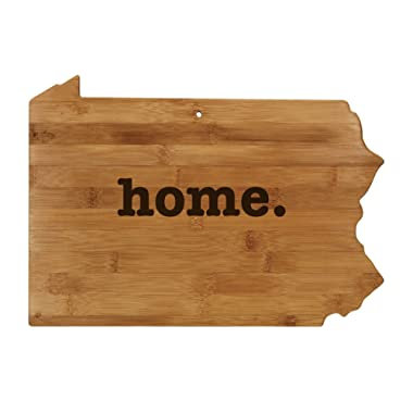 Pennsylvania Shaped Bamboo Wood Cutting Board Engraved home. Personalized For New Family Home Housewarming Wedding Moving Gift