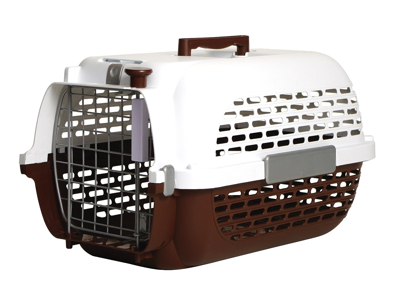 Medium Dogit Voyageur Dog Carrier-Brown White-Medium-56.5cm L X 37.6cm W X 30.8cm H (22-Inch X 14.8-Inch X 12-Inch)