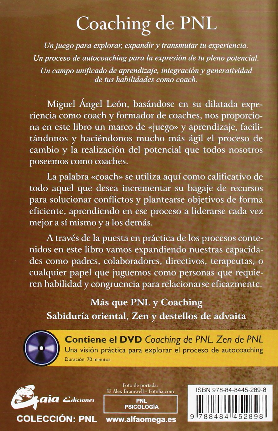 Coaching de PNL. Incluye DVD (Spanish Edition): Miguel angel Leon ...