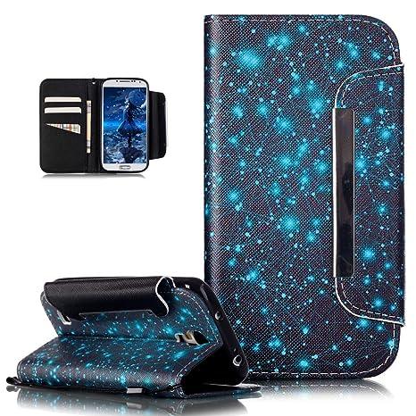 Kompatibel mit Galaxy S4 Hülle,Groß Magnetic Buckle Bunte Gemalt Malerei PU Lederhülle Taschen Handyhülle Flip Wallet Ständer