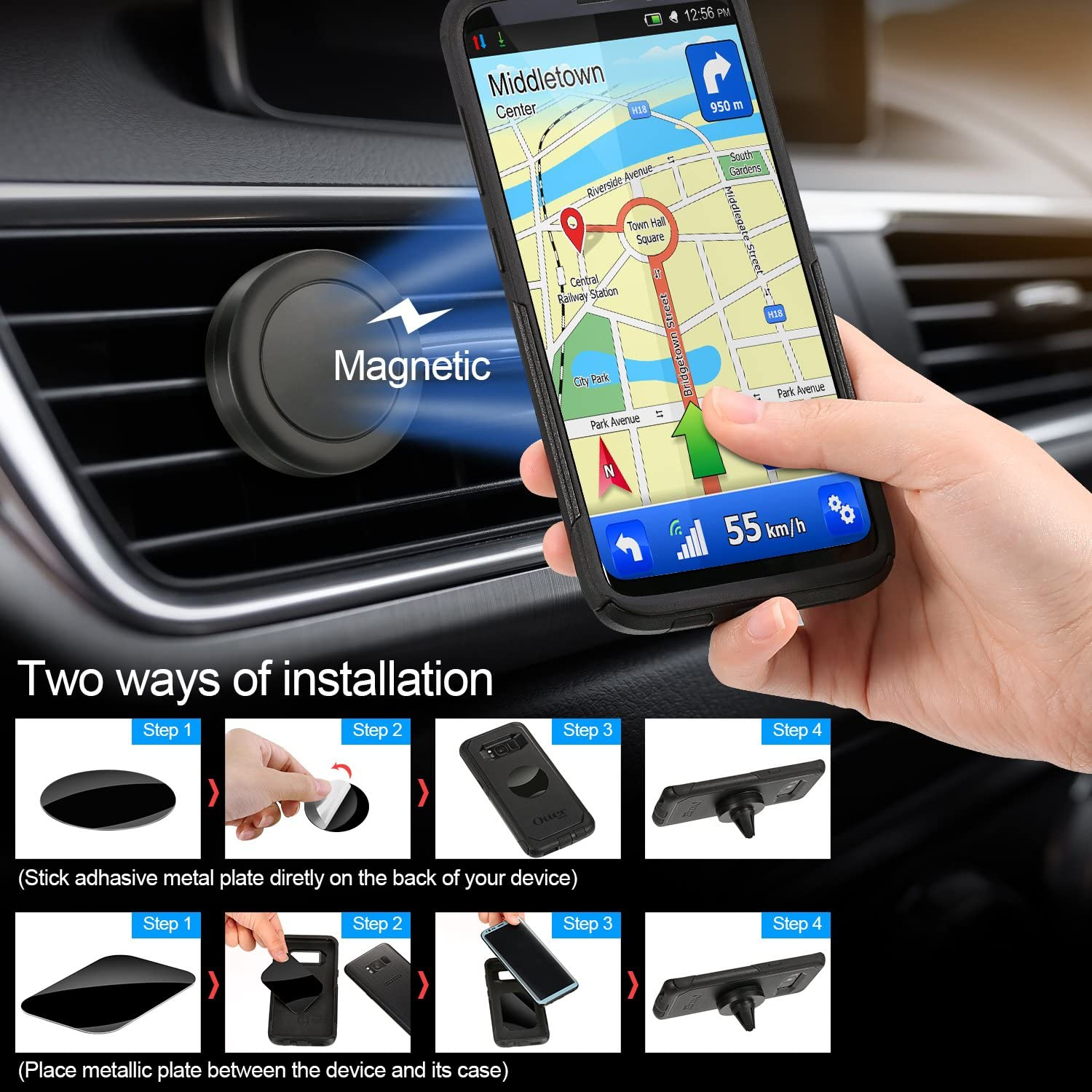 Pattern 1 5V// 3.4A Dual USB Ports Charger Compatible iPhone and Android Smartphones U-disk MP3 Player Hands-free Calling Sumind Car Bluetooth FM Transmitter FM Radio Adapter Transmitter