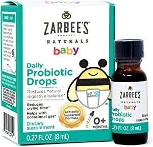 Zarbee's Naturals Baby Daily Probiotic Drops, 0.27 Ounces