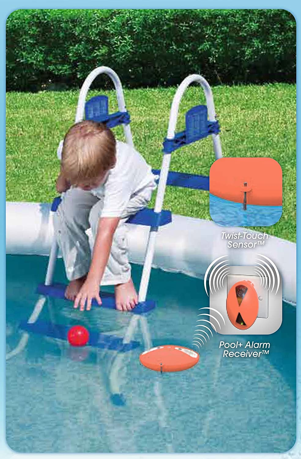 Alarma de seguridad de acceso pool boy: Amazon.es: Jardín