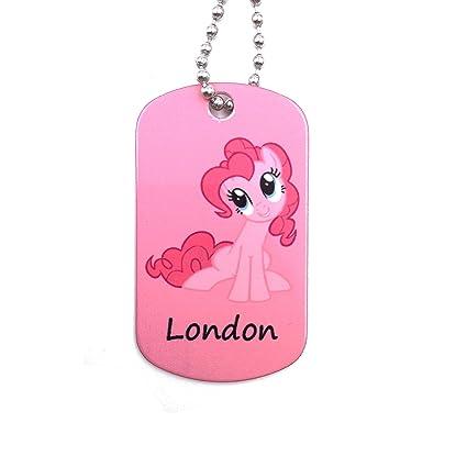 happypettag My Little Pony personalizado llavero Kid ID ...