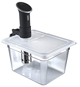 Wellborn Sous Vide Container with Lid, 12 quart - Heat Resistant Strong Bucket, Collapsible Lid, Polycarbonate Clear, NSF Approved, Bundle Set for Anova Precision Cooker & Anova Pro & Anova Culinary AN500-US00