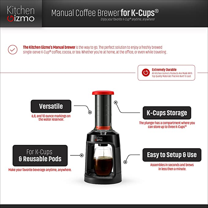 Amazoncom Manual Coffee Brewer For K Cups Brew Coffee Anywhere